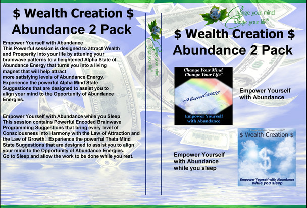 EMPOWER YOURSELF WITH ABUNDANCE WEALTH CREATION 2 PACK SESSION
