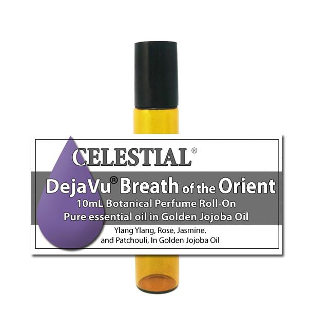 DejaVu® BREATH of the ORIENT BOTANICAL PERFUME  - ORGANIC ROLL ON - EROTIC FEMININE SCENT ylang ylang rose + more