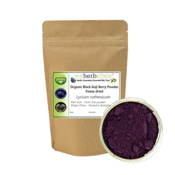 MY HERB CLINIC ® BLACK GOJI BERRY FRUIT POWDER ORGANIC freeze dried - Lycium ruthenicum