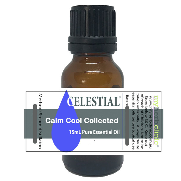 CALM COOL COLLECTED THERAPEUTIC GRADE 100% ESSENTIAL OIL BLEND ~ ALERT & FOCUSED