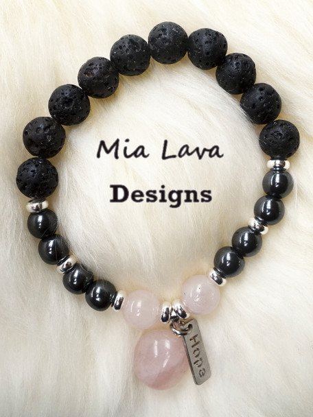 AROMATHERAPY DIFFUSER BRACELET HOPE WITH SILVER CHARM