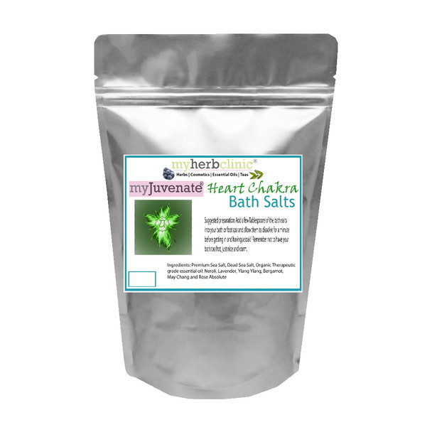 HEART CHAKRA THERAPEUTIC GRADE DEAD SEA BATH SOAK  ESSENTIAL OIL