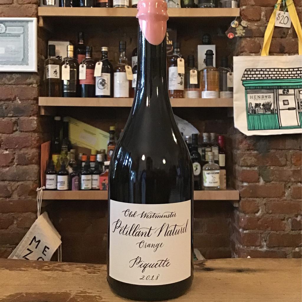 Old Westminster Winery, Pétillant Naturel Orange Piquette (2018)