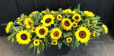 3.Sunflower Coffin Spray