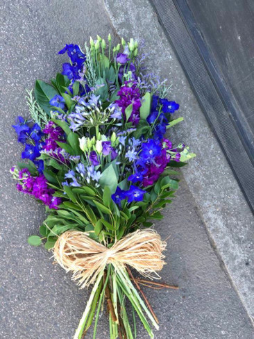 Blue and Purple Tied Spray