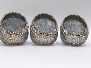 jewell encrusted t light holders