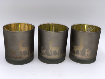 Winter Stag Trio t light holders