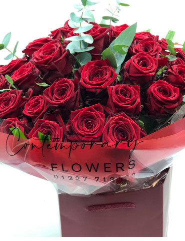 3. 50 Luxurious Red Roses