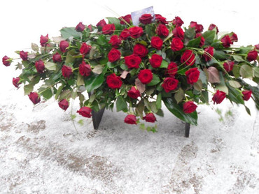 Red Roses Coffin Spray