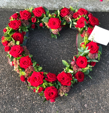 Red Rose open heart