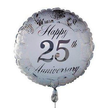 Silver wedding Anniversary Balloon