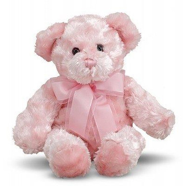 2.Fluffy Pink Teddy Bear