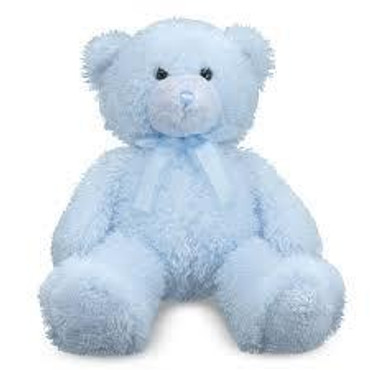 2.Fluffy Blue Teddy Bear