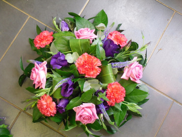 Pink And Purple Posy Bowl