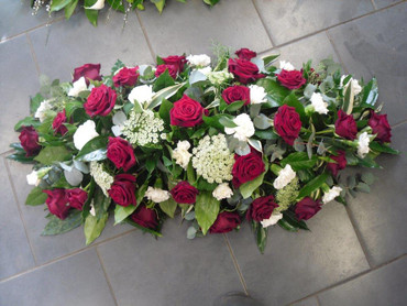 Red Rose mix Coffin Spray