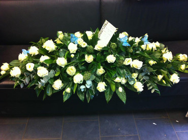 4.Ivory Roses coffin Spray