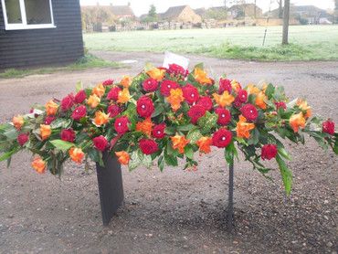 Mix of Roses Coffin Spray