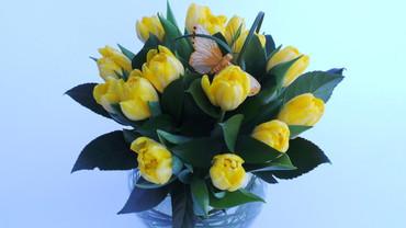 A Tulip Globe Bowl