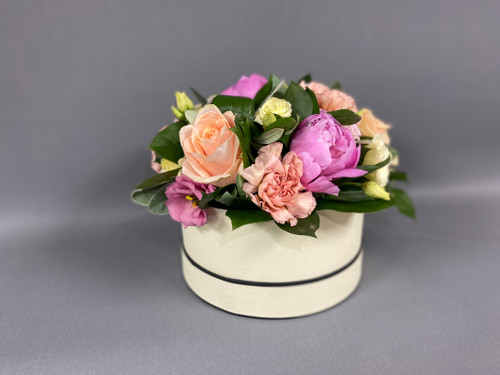 Our beautiful summer hatbox full of luxurious blooms including peonies x