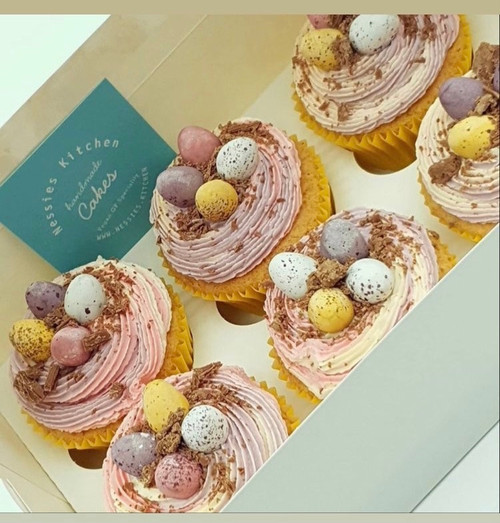 Easter Spring Jar and Cupcakes
