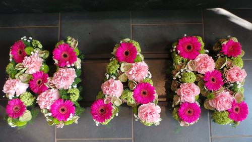 Floral Nan tribute fresh seasonal flowers in your choice of colours