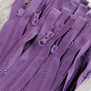 75 cm Separable Zipper:  Plum