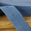 Buttonhole Elastic:  Denim Blue