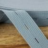 Buttonhole Elastic:  Grey