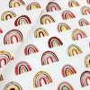 Watercolour Rainbows:  Woven Cotton Poplin, by Stenzo