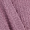 Cable Knit: Heathered Mullberry