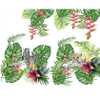 Little Tropical Wilds, White: Panel Digital Jersey Knit, Stenzo  (approximately 120 cm)