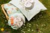 Spring Joy, Green: Children's bed linen panels from Birgit Boley (measures approximately 250 cm)