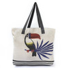 Toucan Tote Bag: Canvas Panel from Katia