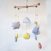 Sky Rhinos:  Baby Mobile & Pillow Panel from Katia