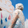 Unicorn In The Air: Translucent Water Repellent Fabric from Katia