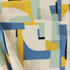 Abstract Aqua: Cotton Canvas by Katia