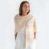 Panama Stripes, Orange: Cotton/Viscose Blend from Katia