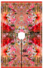 Floral Robe Top/Dress Panel in Red:  Cotton Voile, Stenzo (approximately 2 meters)
