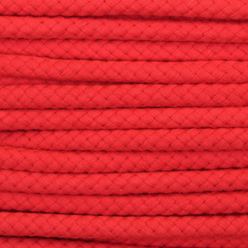 Double Woven Cotton Cord (8 mm): Red