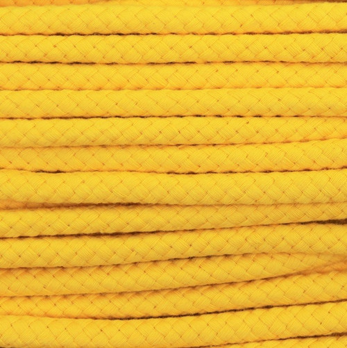 Double Woven Cotton Cord (8 mm):  Yellow