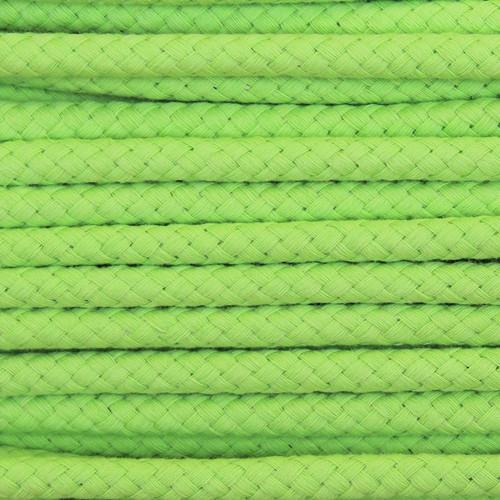 Double Woven Cotton Cord (8 mm):  Lemon Lime