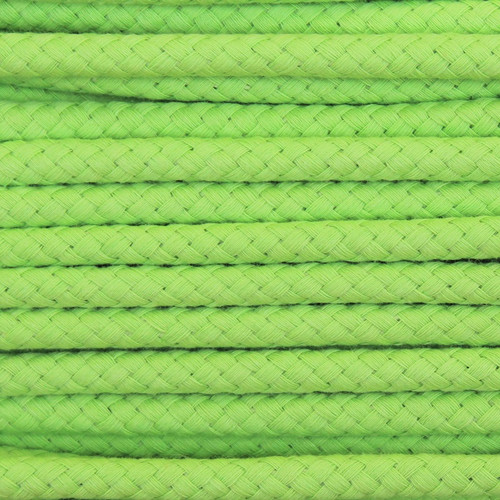 Double Woven Cotton Cord (8 mm):  Lemon Lime