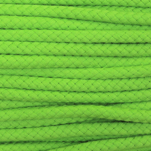 Double Woven Cotton Cord (8 mm):  Lime