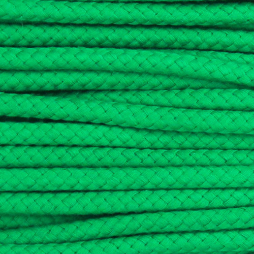 Double Woven Cotton Cord (8 mm):  Green