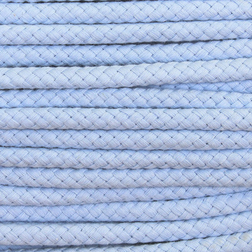 Double Woven Cotton Cord (8 mm):  Light Blue