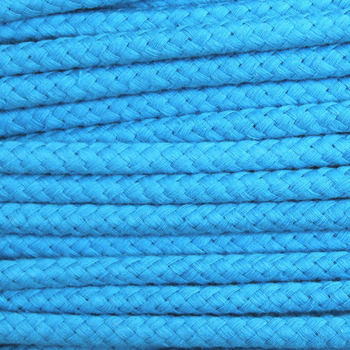 Double Woven Cotton Cord (8 mm):  Aqua