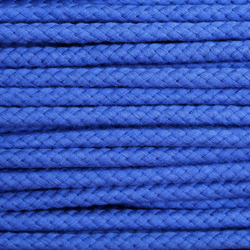 Double Woven Cotton Cord (8 mm):  Royal Blue