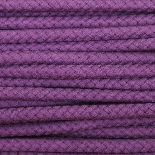 Double Woven Cotton Cord (8 mm):  Purple