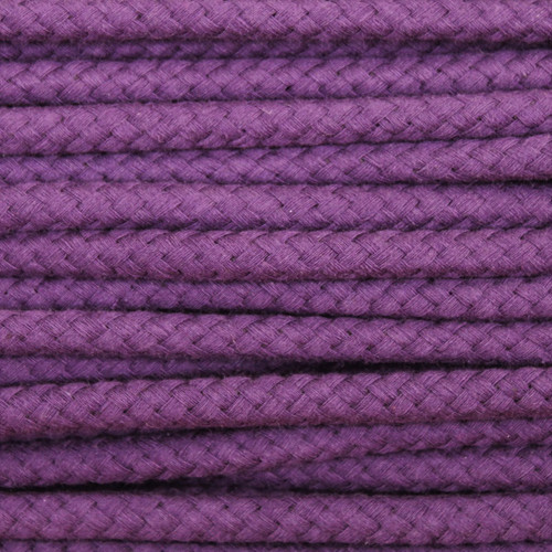 Double Woven Cotton Cord (8 mm):  Purple