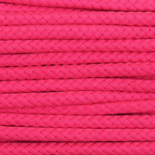 Double Woven Cotton Cord (8 mm):  Fuchsia